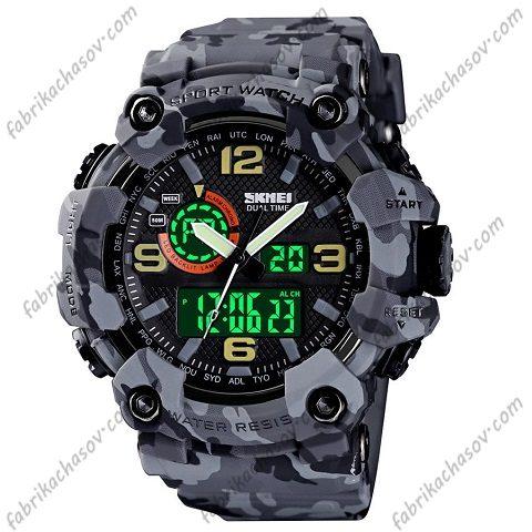 Часы Skmei 1520 camouflage gray