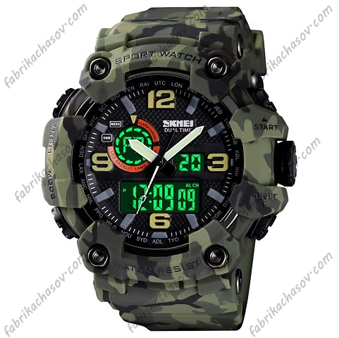 Часы Skmei 1520 camouflage green