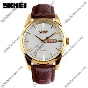 Часы Skmei 9073 коричневые