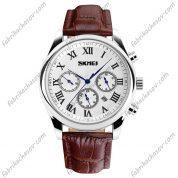 Мужские часы Skmei 9078 Коричневые