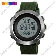 Часы Skmei 1268 Зеленый ремешок