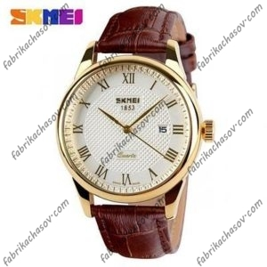Часы Skmei 9058 коричневые
