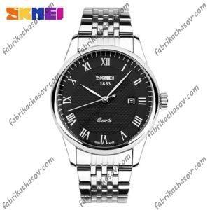 Мужские часы Skmei 9058 цвет стальной