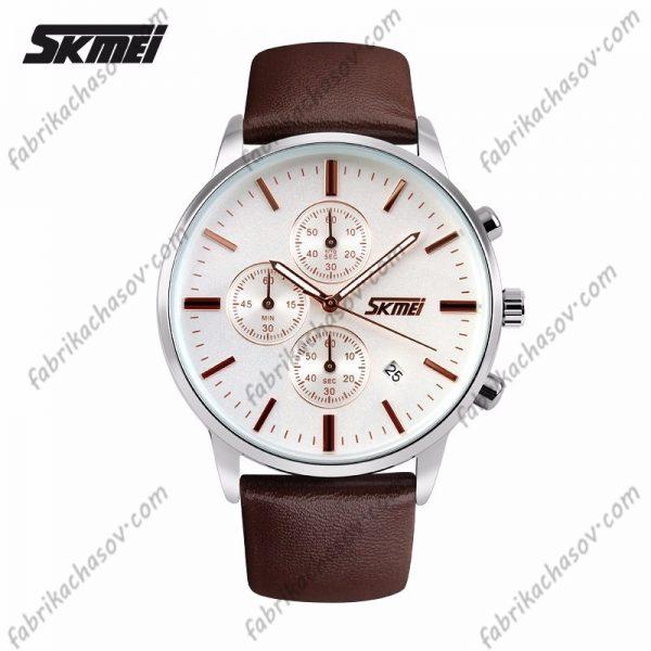 Часы Skmei 9103 коричневые