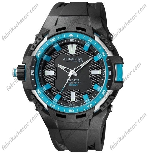 Мужские часы Q&Q ATTRACTIVE DA70J001Y
