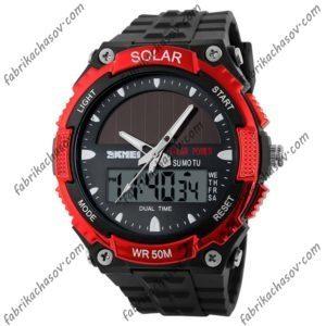 Часы Skmei 1049 (красные) солнечная батарея