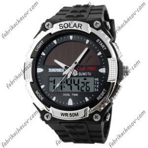 Часы Skmei 1049 (серые) солнечная батарея