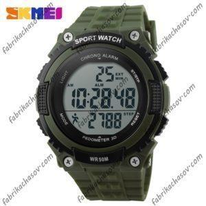 Часы Skmei 1112s зеленые спортивные шагомер