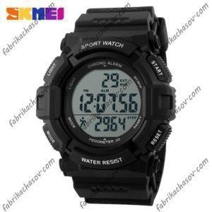 Часы Skmei 1116s черные спортивные шагомер