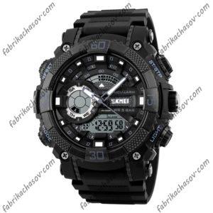Часы Skmei 1228 черные с двойным механизмом