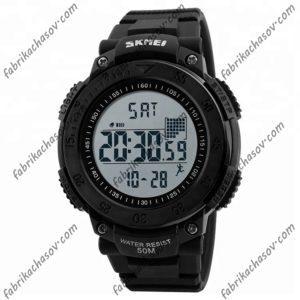 Часы Skmei 1238 черные спортивные шагомер
