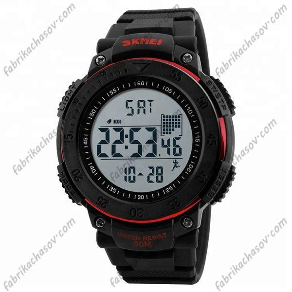 Часы Skmei 1238 красные спортивные шагомер