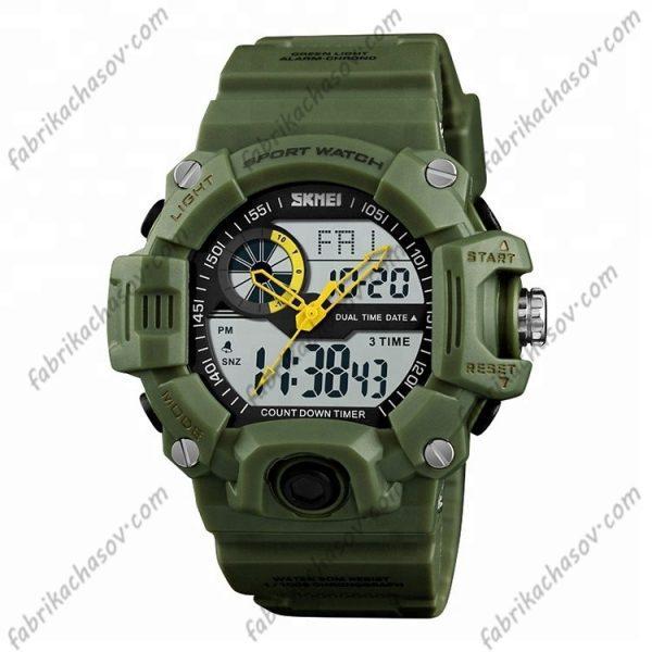 Часы Skmei 1331 зеленые с двойным механизмом