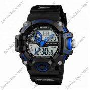 Часы Skmei 1331 синие с двойным механизмом