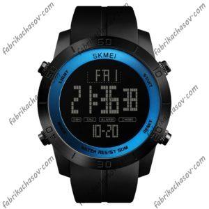 Часы Skmei 1353 с синей вставкой спортивные