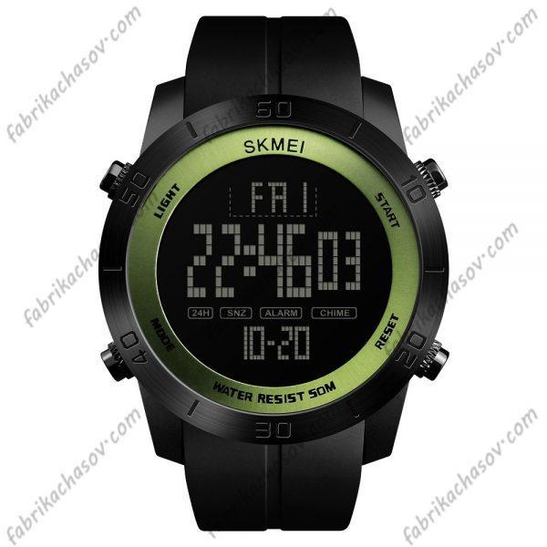 Часы Skmei 1353 с зеленой вставкой спортивные