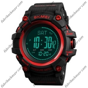 Часы Skmei 1358 красные спортивные много