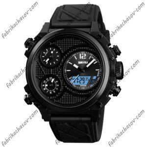 Часы Skmei 1359 черные с двойным механизмом