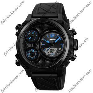 Часы Skmei 1359 синие с двойным механизмом