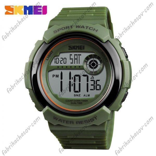Часы Skmei 1367 зеленые спортивные унисекс