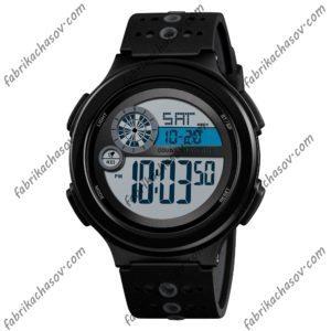 Часы Skmei 1374 черные спортивные унисекс