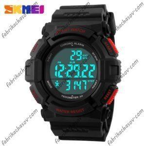 Часы Skmei 1116s красные спортивные шагомер