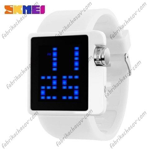 Часы Skmei 1145 белые спортивные
