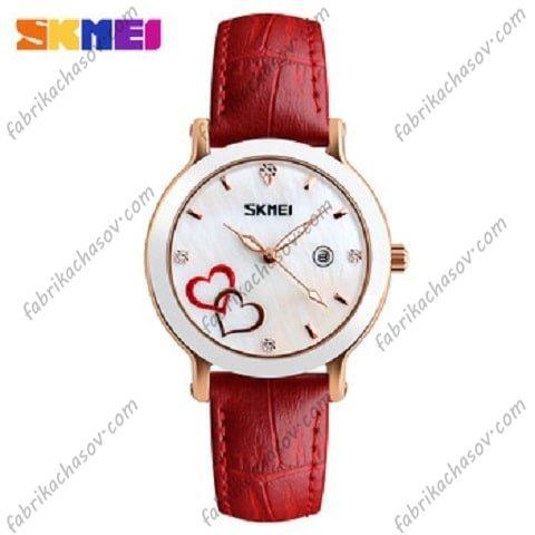 Часы Скмей 9144 красные Женские