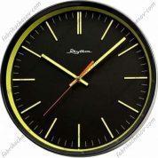 Настенные часы RHYTHM 525 желтые