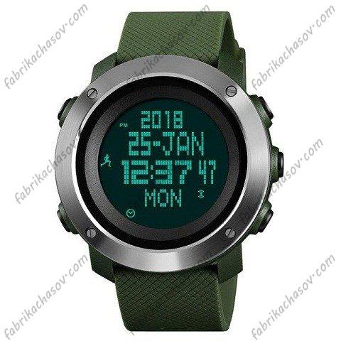 "Мужские часы Skmei 1430 зеленые ""компас"""