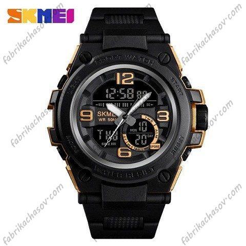 Часы Skmei 1452 золотистые спортивные