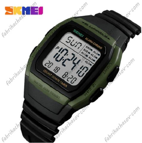 Часы Skmei 1278 зеленная вставка