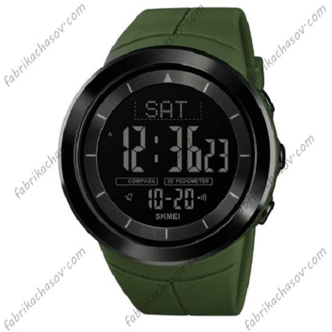 Часы Skmei 1403 с компасом зеленые