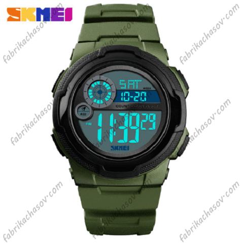 Мужские часы Skmei 1437 зеленые