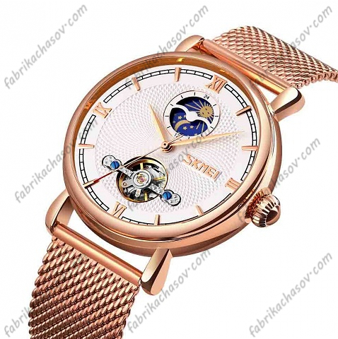 Часы Skmei 9220 rose gold-white